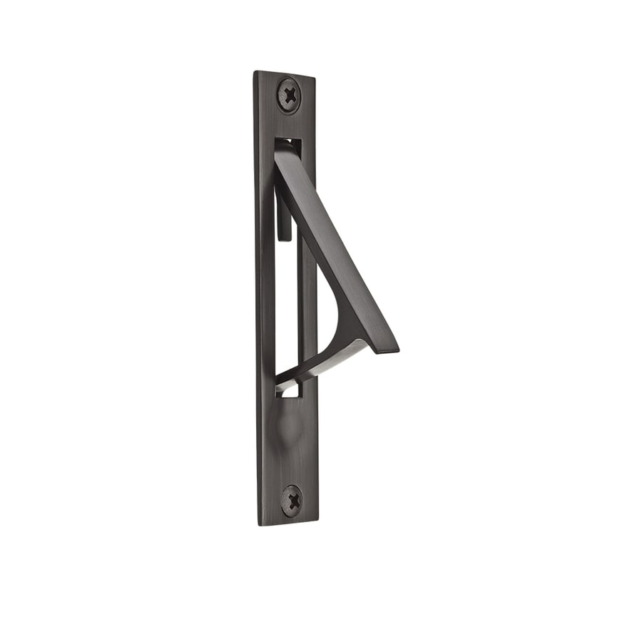 BALDWIN 0.74-in Venetian Bronze Passage Pocket Door Pull