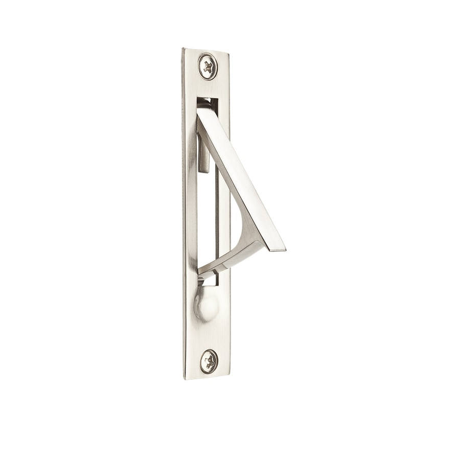 Shop Baldwin 0 74 In Satin Nickel Passage Pocket Door Pull