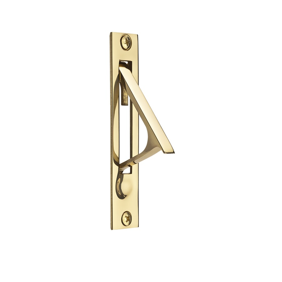 BALDWIN 0.74-in Polished Brass Passage Pocket Door Pull