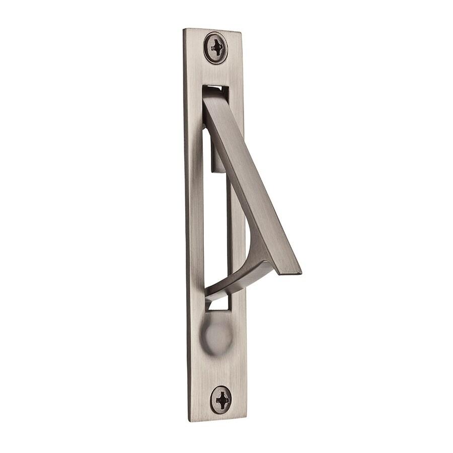 BALDWIN 0.74-in Matte Antique Nickel Pocket Door Pull