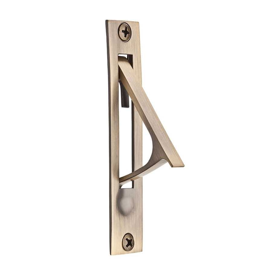 BALDWIN 0.74-in Matte Brass and Black Pocket Door Pull