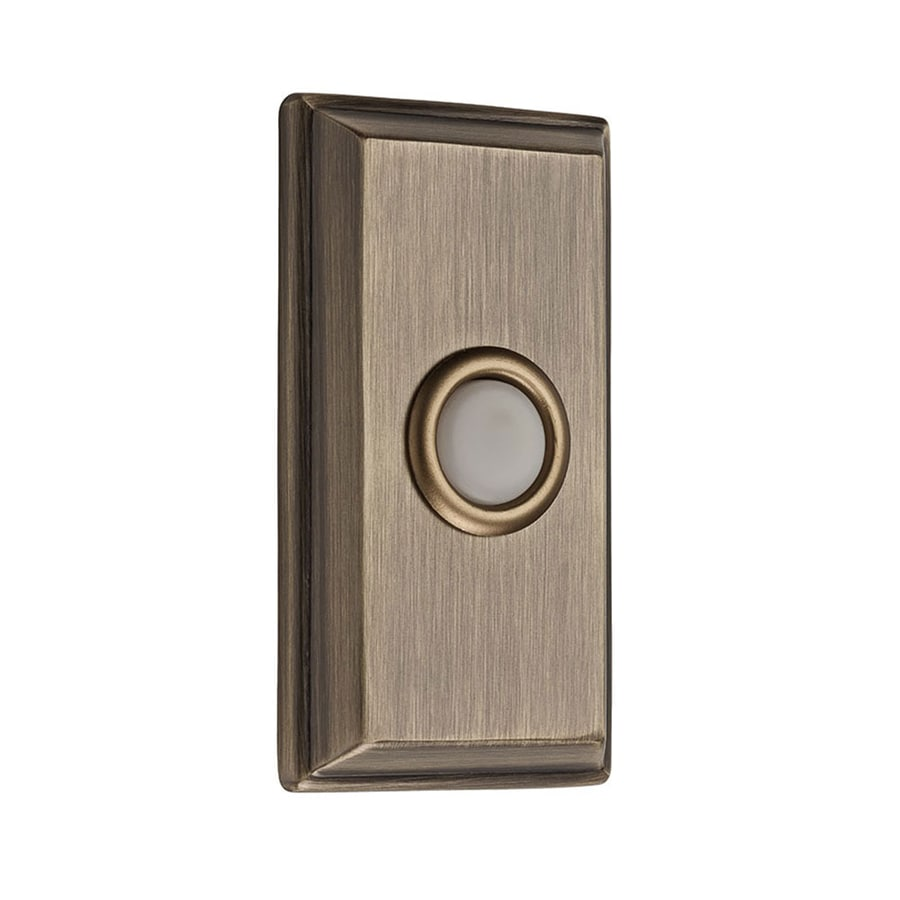 BALDWIN Matte Brass and Black Doorbell Button
