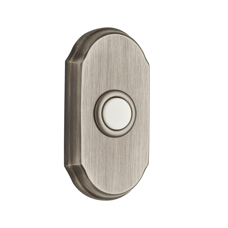 BALDWIN Matte Antique Nickel Doorbell Button
