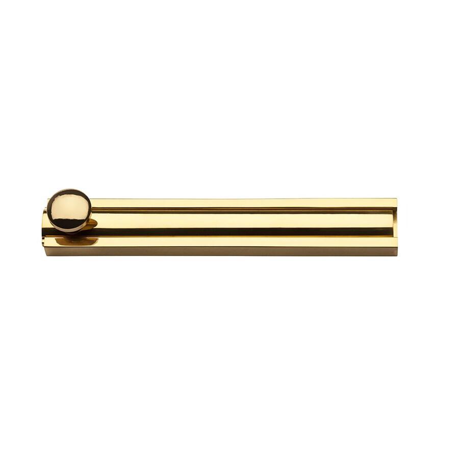 BALDWIN 4-in Brass Surface Bolt