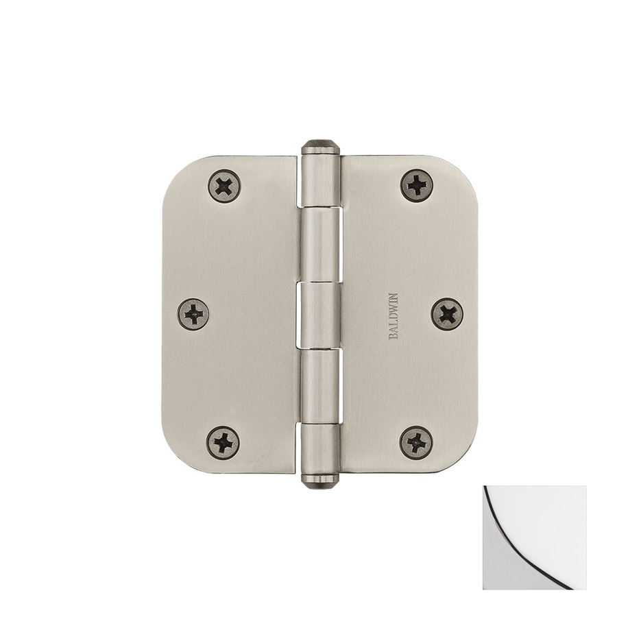 BALDWIN Reserve 3.5-in H Polished Chrome 5/8-in Radius Interior/Exterior Mortise Door Hinge