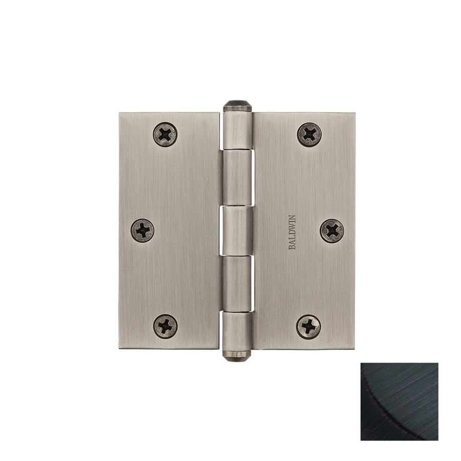 BALDWIN Reserve 3.5-in H Venetian Bronze Radius Interior/Exterior Mortise Door Hinge