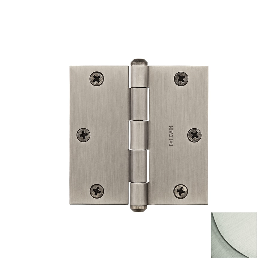 BALDWIN Reserve 3.5-in H Satin Nickel Radius Interior/Exterior Mortise Door Hinge
