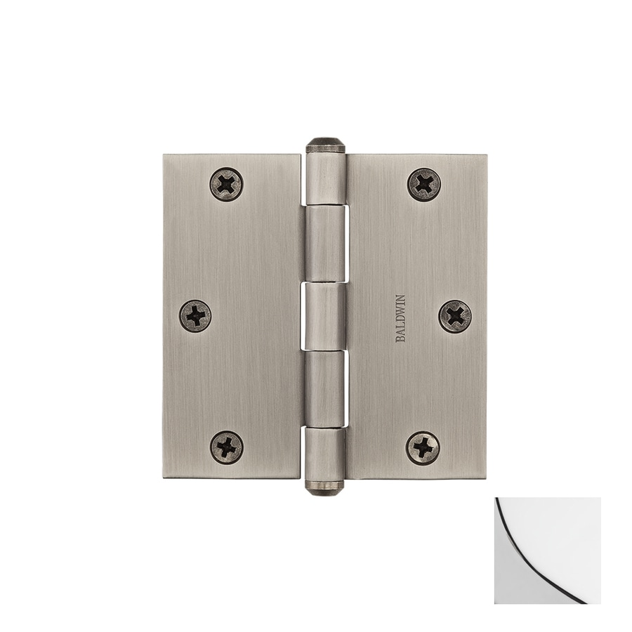 BALDWIN Reserve 3.5-in H Polished Chrome Radius Interior/Exterior Mortise Door Hinge