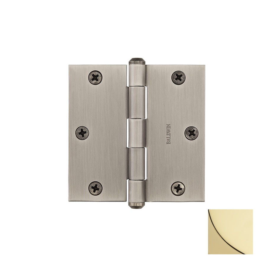 BALDWIN Reserve 3.5-in H Polished Brass Radius Interior/Exterior Mortise Door Hinge