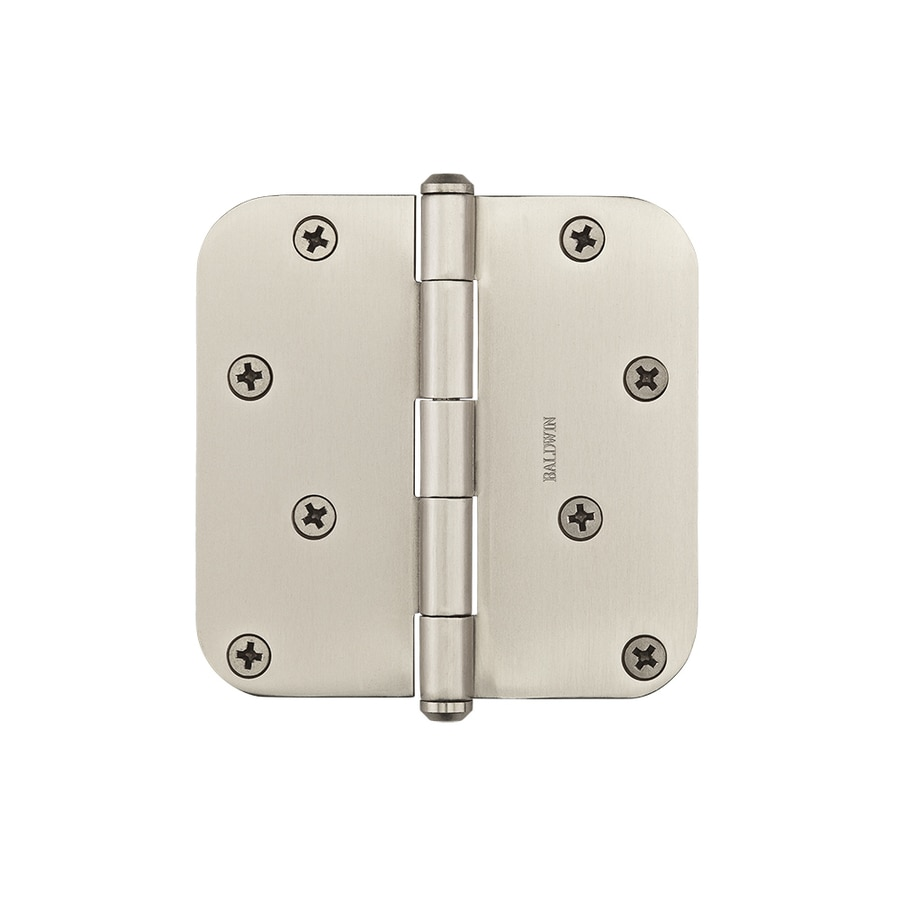 BALDWIN Reserve 4-in H Satin Nickel 5/8-in Radius Interior/Exterior Mortise Door Hinge