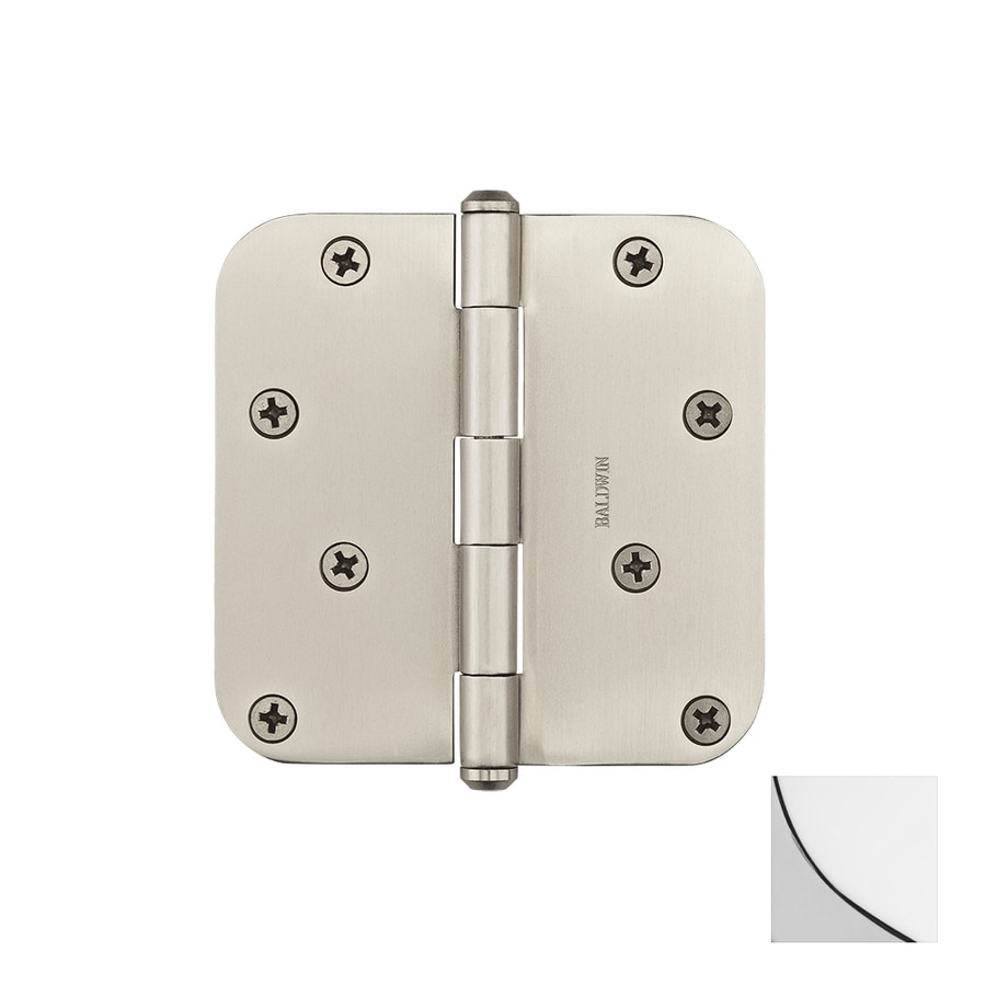 BALDWIN Reserve 4-in H Polished Chrome 5/8-in Radius Interior/Exterior Mortise Door Hinge