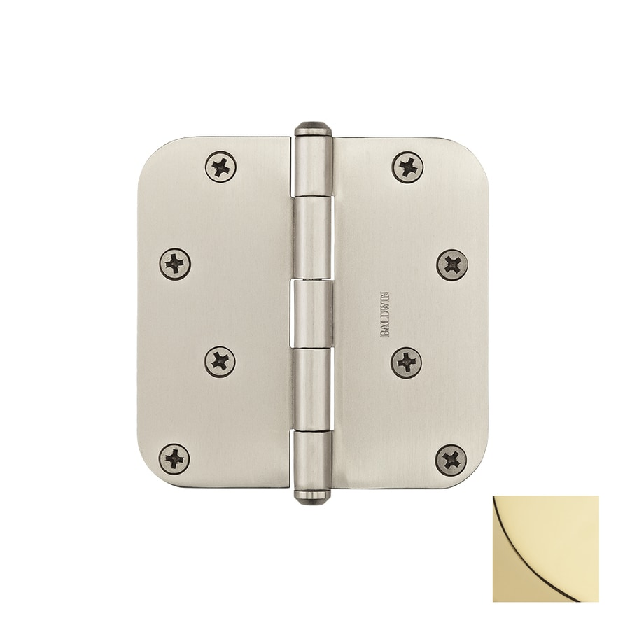 BALDWIN Reserve 4-in H Polished Brass 5/8-in Radius Interior/Exterior Mortise Door Hinge