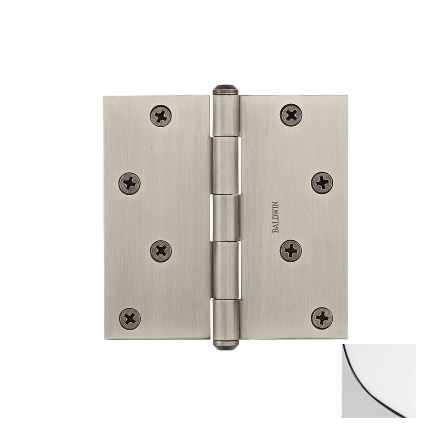 BALDWIN Reserve 4-in H Polished Chrome Radius Interior/Exterior Mortise Door Hinge