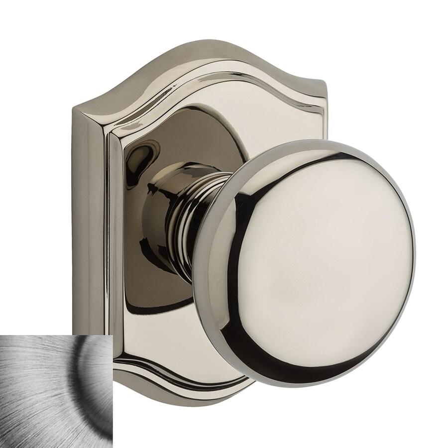 BALDWIN Reserve Matte Antique Nickel Round Push-Button Lock Privacy Door Knob