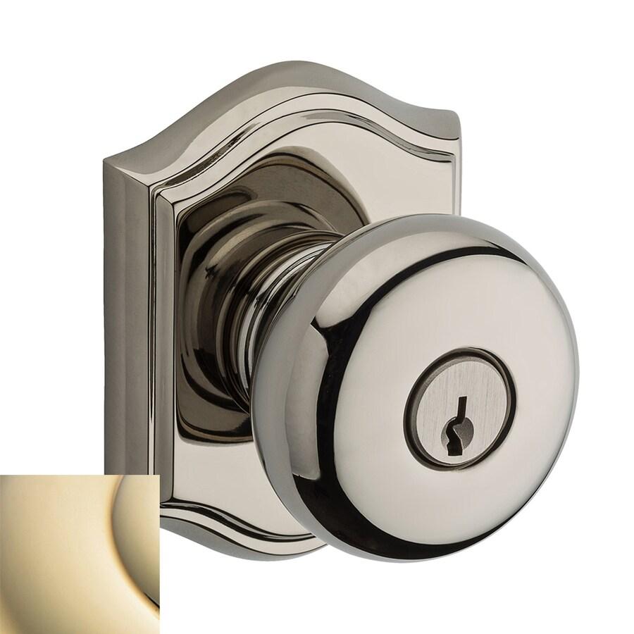 BALDWIN Reserve Lifetime Polished Brass Keyed Entry Door Knob