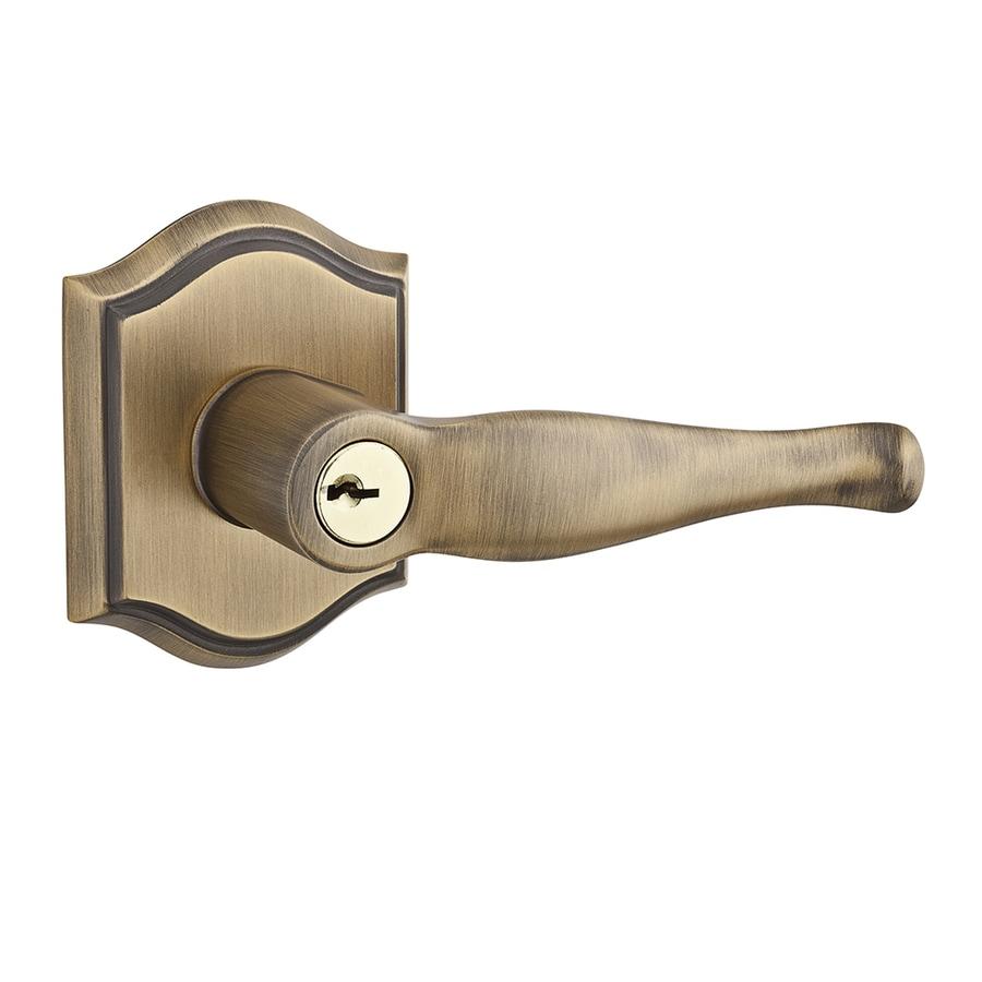Baldwin Reserve Decorative Matte Brass And Black Reversible Keyed