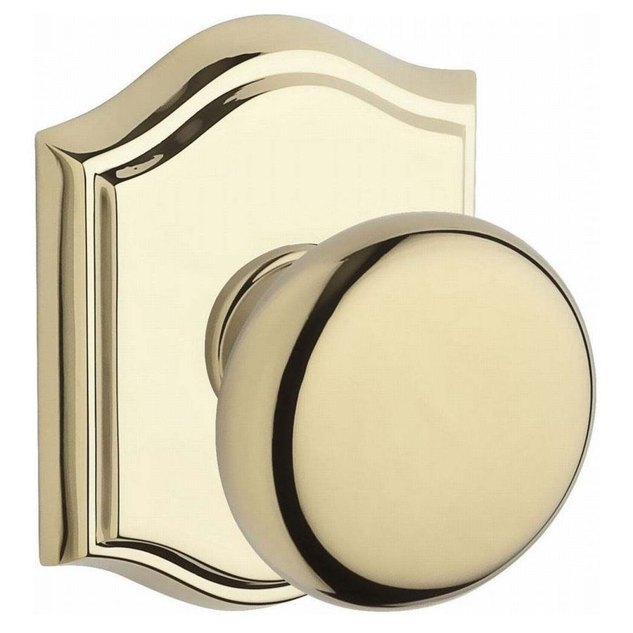 BALDWIN Reserve Lifetime Polished Brass Round Passage Door Knob