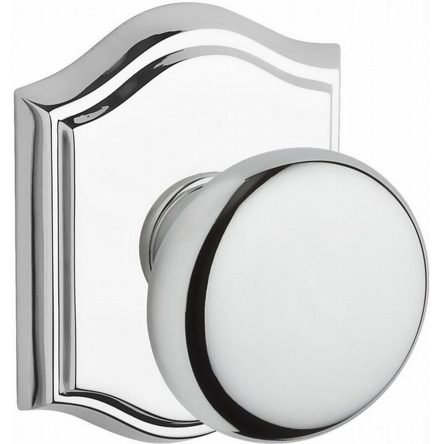 BALDWIN Reserve Polished Chrome Round Passage Door Knob