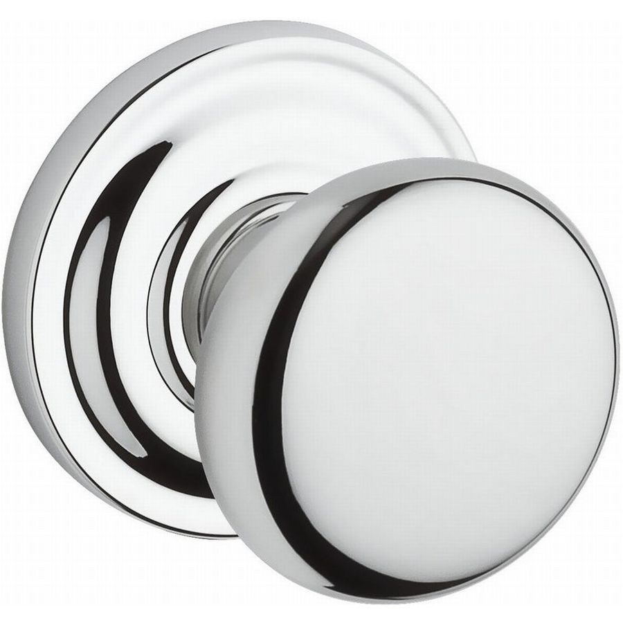 BALDWIN Reserve Polished Chrome Round Push-Button Lock Privacy Door Knob