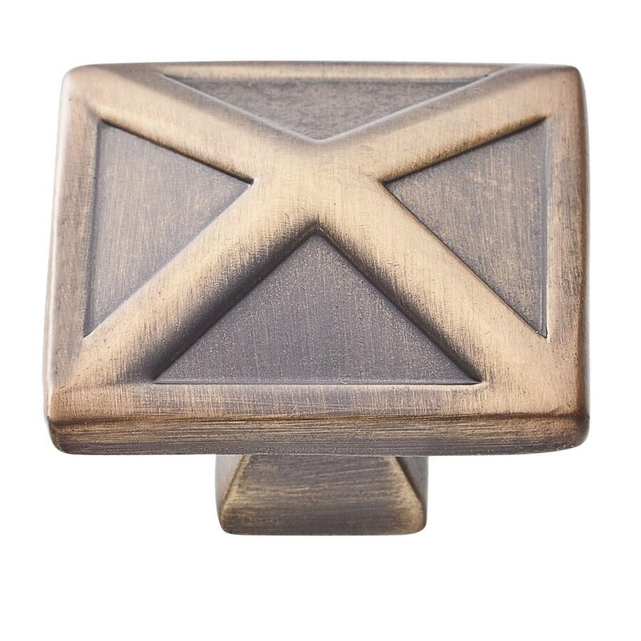 BALDWIN Prestige Aged Bronze Square Cabinet Knob