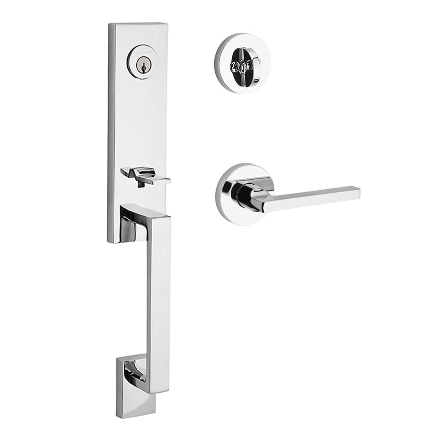 BALDWIN Reserve Seattle Lever Traditional Polished Chrome Single-Lock Keyed Entry Door Handleset