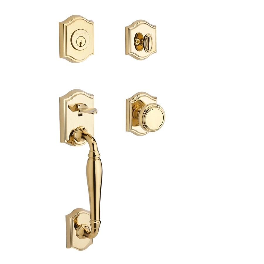 BALDWIN Reserve Westclifx Traditional Knob Traditional Lifetime Polished Brass Single-Lock Keyed Entry Door Handleset