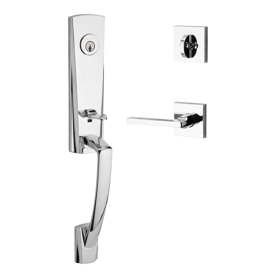 BALDWIN Reserve Miami Lever Traditional Polished Chrome Single-Lock Keyed Entry Door Handleset