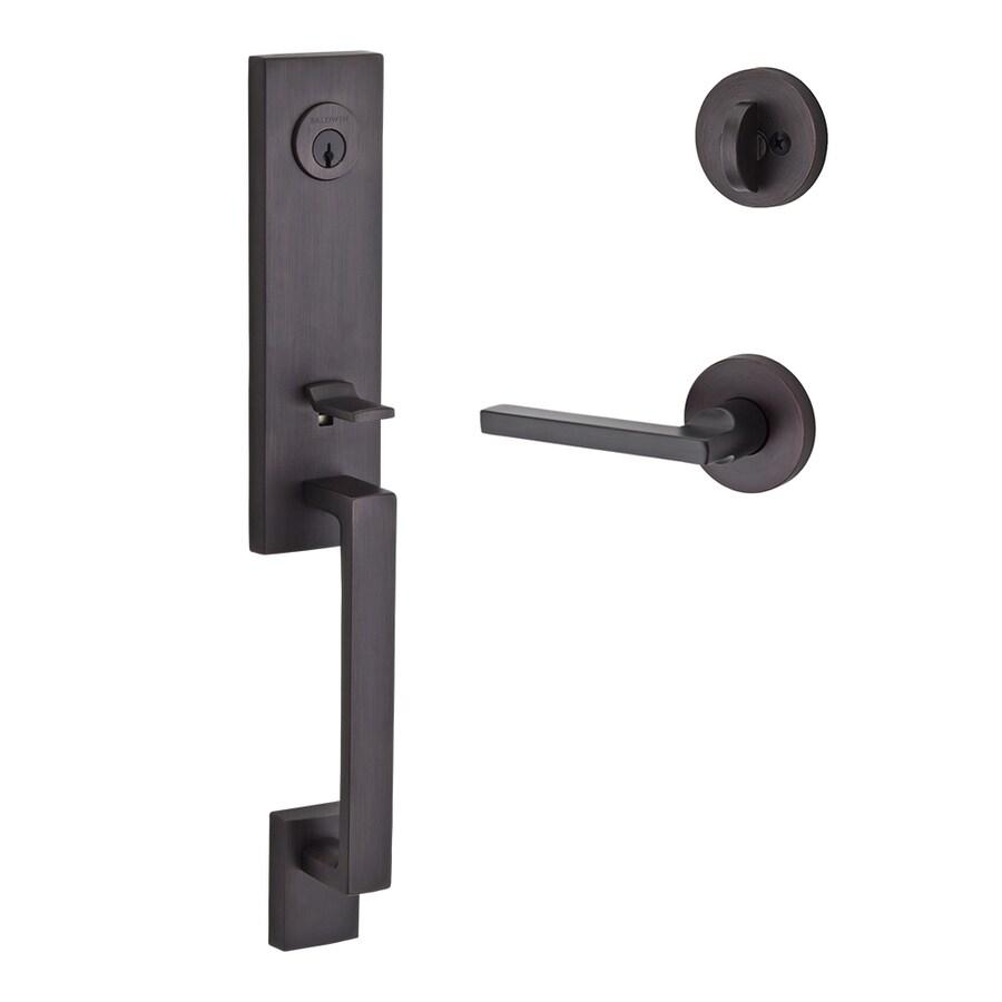 BALDWIN Reserve Seattle Lever Traditional Venetian Bronze Single-Lock Keyed Entry Door Handleset