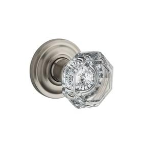 Gentil BALDWIN Reserve Crystal Satin Nickel Privacy Door Knob Single Pack
