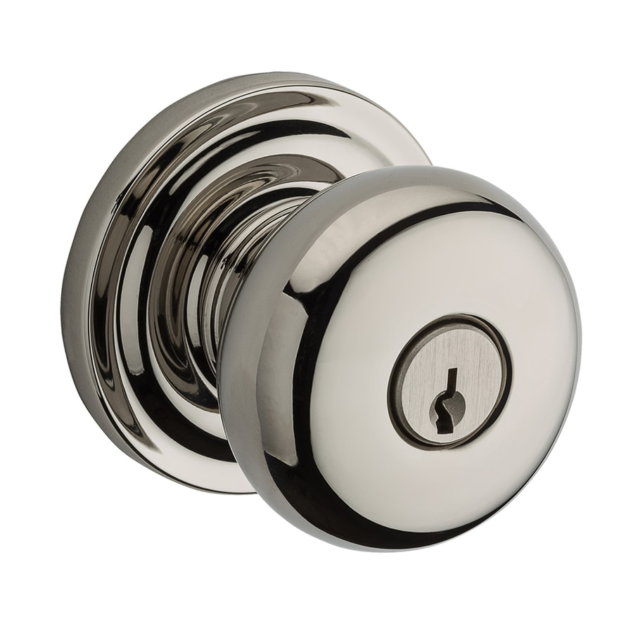 baldwin reserve polished nickel keyed entry door knob - Baldwin Door Knobs
