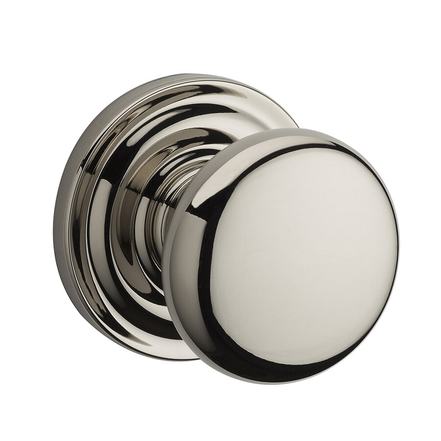BALDWIN Reserve Round Polished Nickel Dummy Door Knob