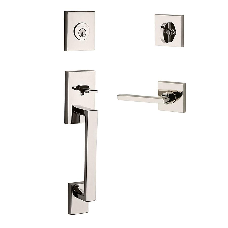 BALDWIN Reserve La Jolla Lever Traditional Polished Nickel Single-Lock Keyed Entry Door Handleset