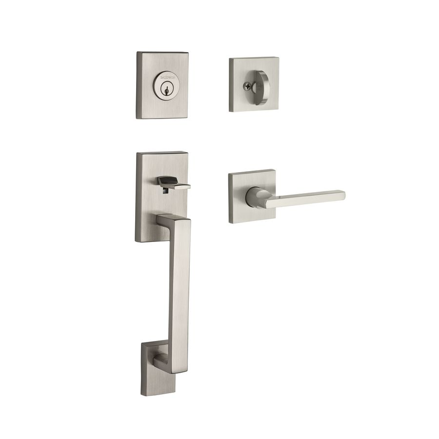 BALDWIN Reserve La Jolla Lever Traditional Satin Nickel Single-Lock Keyed Entry Door Handleset