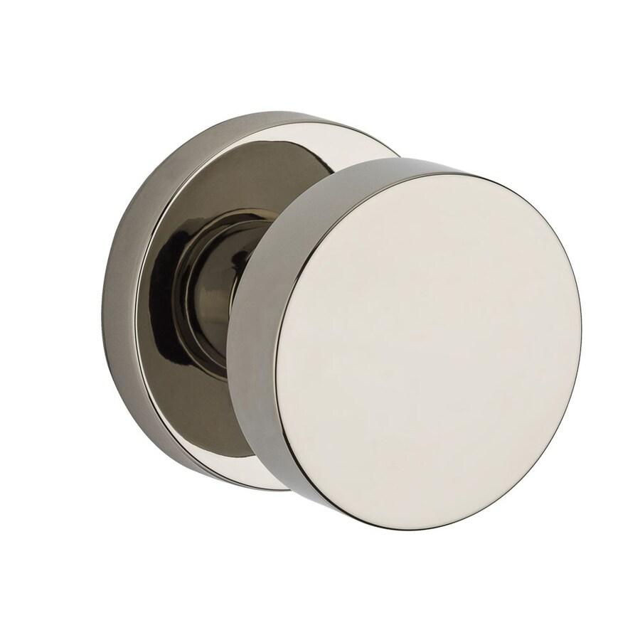 BALDWIN Reserve Contemporary Polished Nickel Round Passage Door Knob