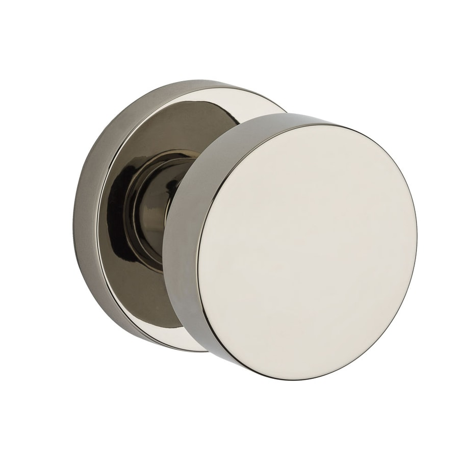 BALDWIN Reserve Contemporary Polished Nickel Dummy Door Knob