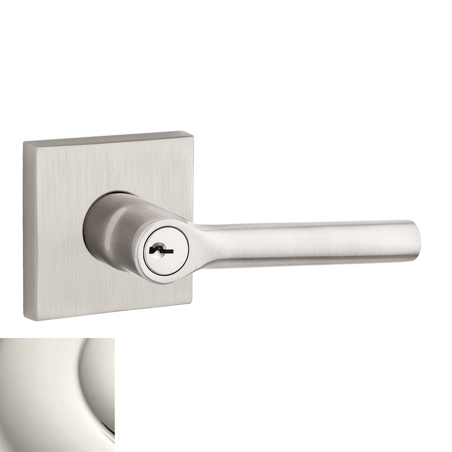 BALDWIN Reserve Tube Polished Nickel Keyed Entry Door Lever