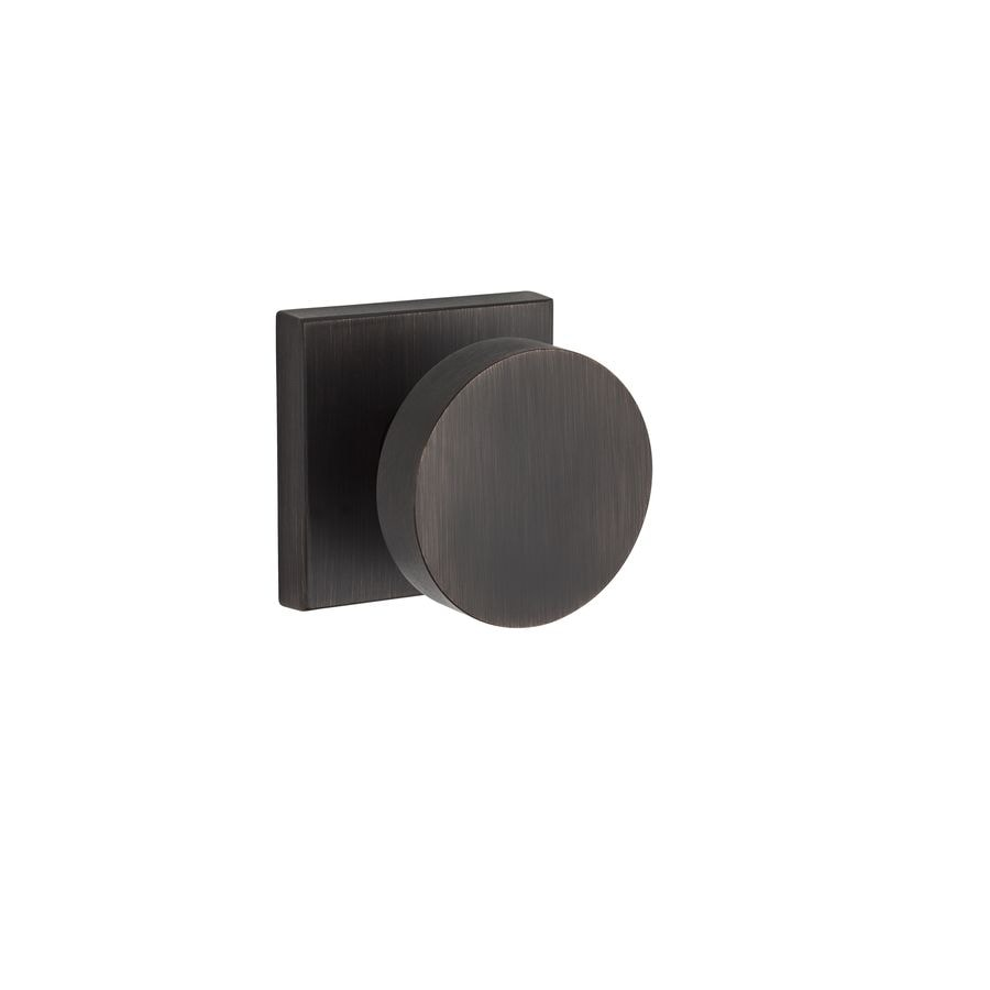 BALDWIN Reserve Contemporary Venetian Bronze Round Push-Button Lock Privacy Door Knob