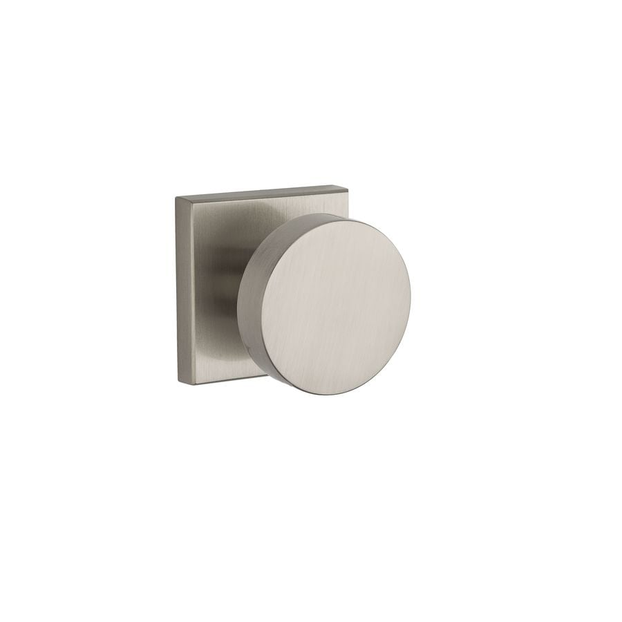 BALDWIN Reserve Contemporary Satin Nickel Round Push-Button Lock Privacy Door Knob