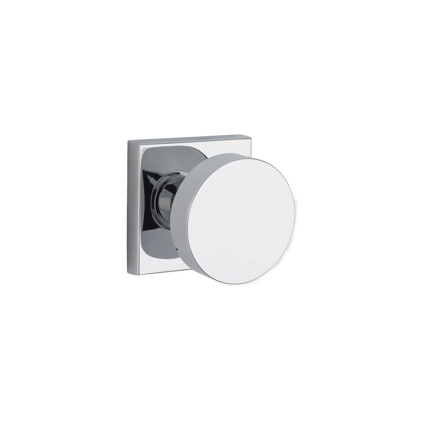 BALDWIN Reserve Contemporary Polished Chrome Round Push-Button Lock Privacy Door Knob