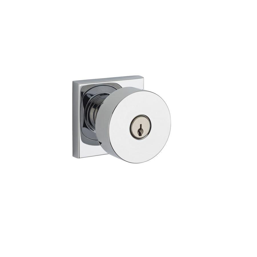 BALDWIN Reserve Contemporary Polished Chrome Keyed Entry Door Knob