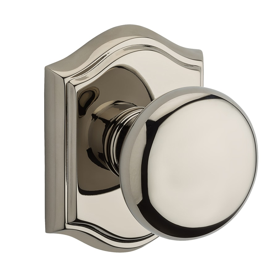 BALDWIN Reserve Round Polished Nickel Dummy Door Knob