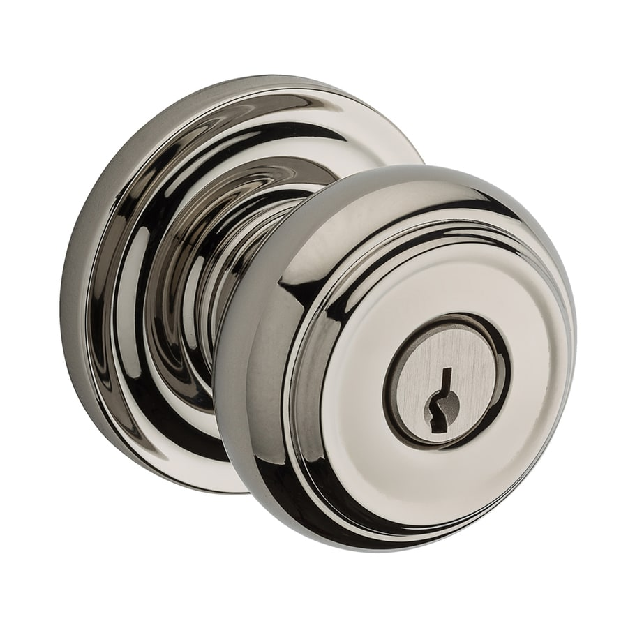 BALDWIN Reserve Traditional Polished Nickel Keyed Entry Door Knob