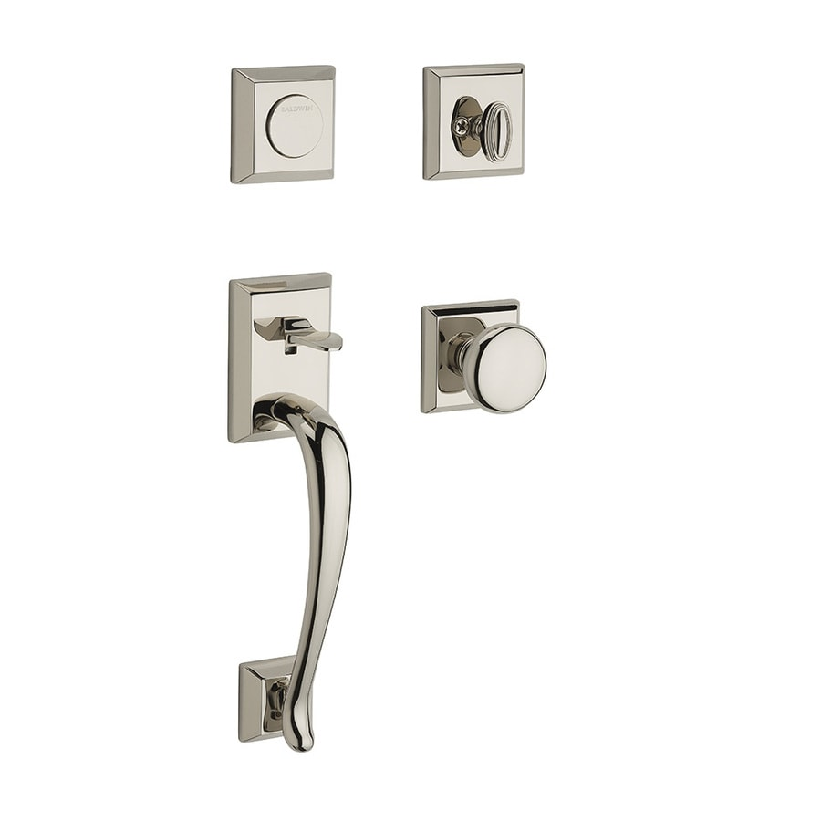 BALDWIN Napa x Round Knob Polished Nickel Dummy Door Handleset