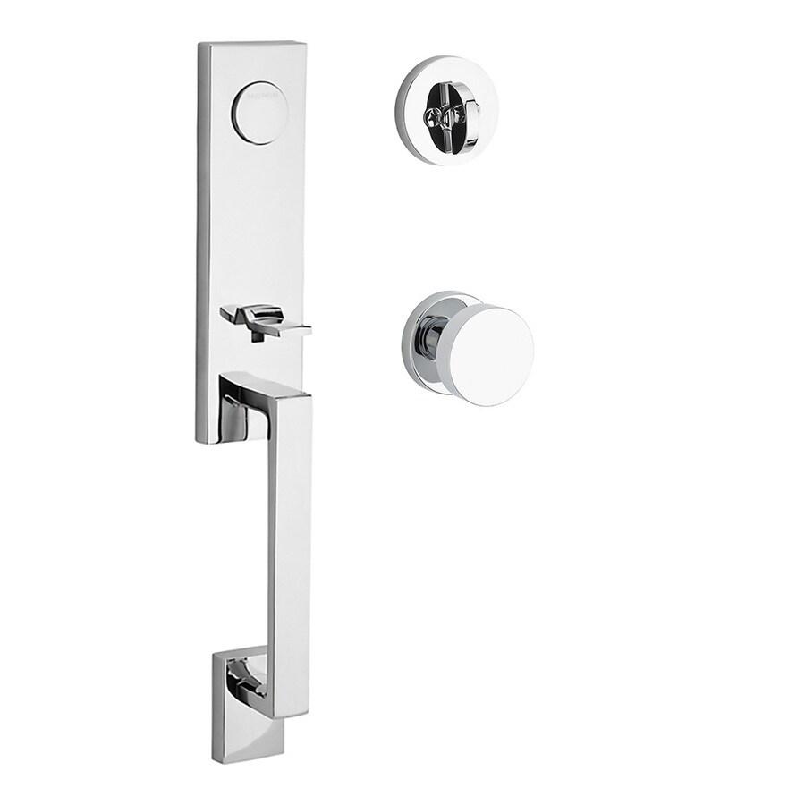 BALDWIN Seattle x Contemporary Knob Polished Chrome Dummy Door Handleset
