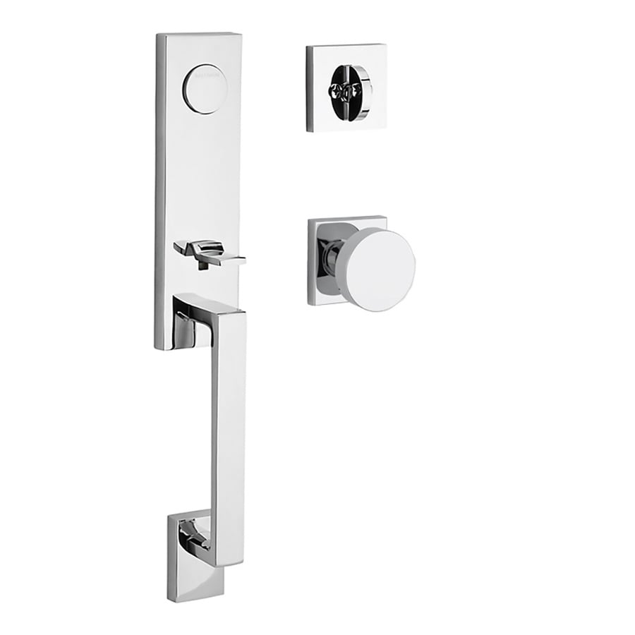 BALDWIN Seattle x Contemporary Knob Polished Chrome Dummy Door Handleset