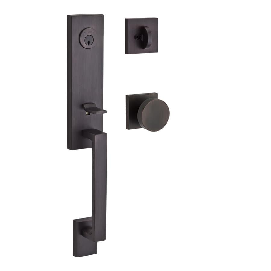 BALDWIN Reserve Seattle Contemporary Knob Traditional Venetian Bronze Single-Lock Keyed Entry Door Handleset
