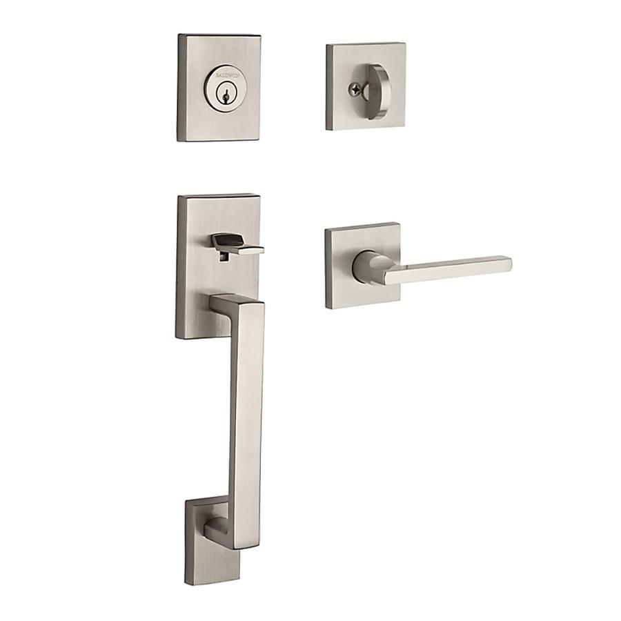 BALDWIN Reserve La Jolla Lever Traditional Satin Nickel Single-Lock Keyed Entry Door Handleset