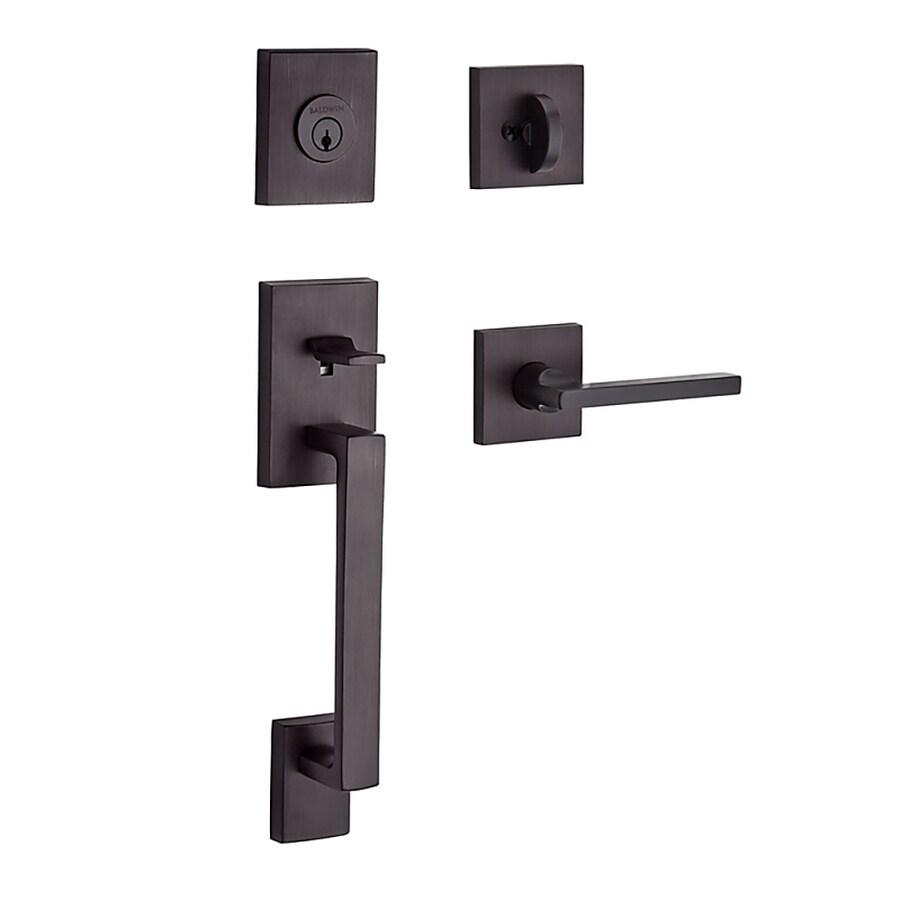 BALDWIN Reserve La Jolla Lever Traditional Venetian Bronze Single-Lock Keyed Entry Door Handleset