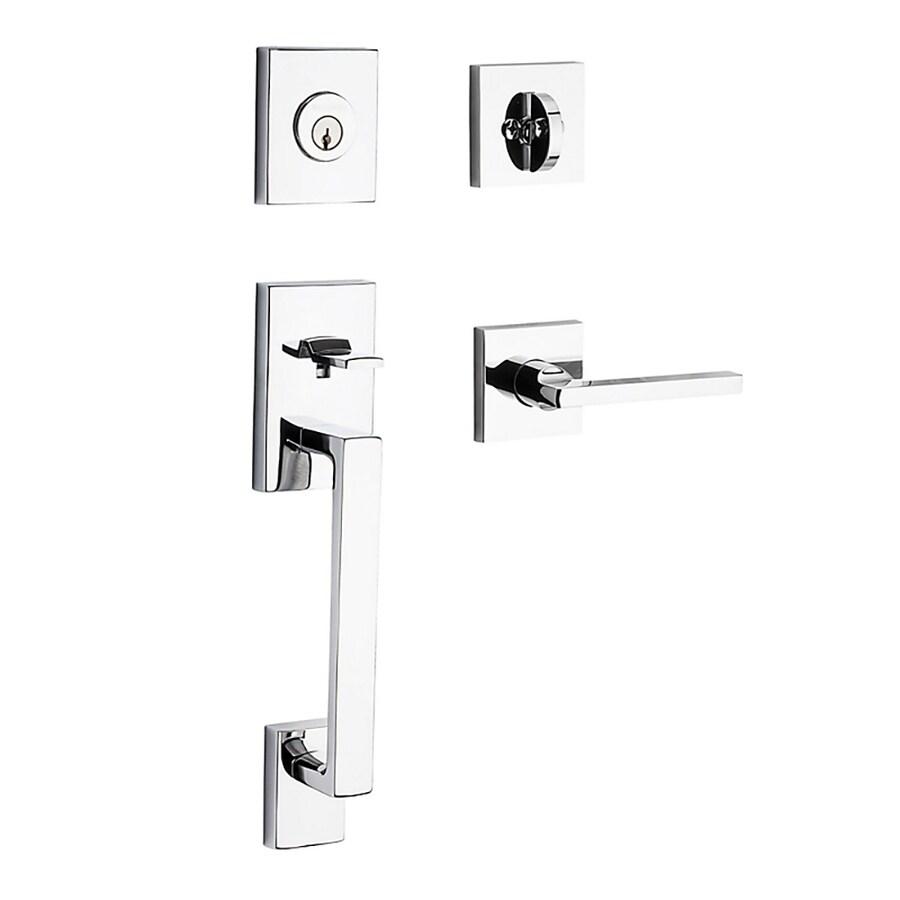 BALDWIN Reserve La Jolla Lever Traditional Polished Chrome Single-Lock Keyed Entry Door Handleset