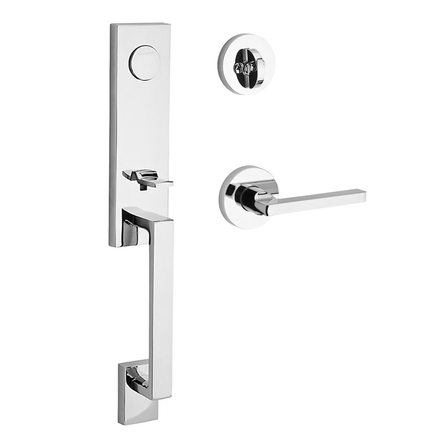 BALDWIN Seattle x Square Lever Polished Chrome Dummy Door Handleset